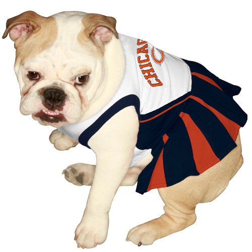 Pets First CHI-4007-X-S NFL Chicago Bears Dog Cheerleader Dress, X-Small, My Pet Supplies