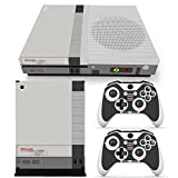 ZoomHit Xbox One S Console Skin Decal Sticker NES Retro + 2 Controller Skins Set (S Only)