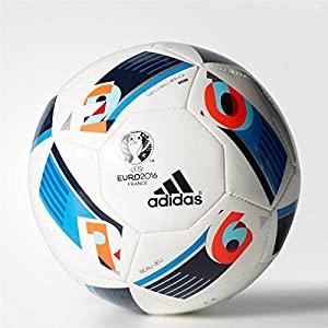 adidas Herren Ball EURO 2016 Mini, White/Bright Blue/Night Indigo, 1, AC5427