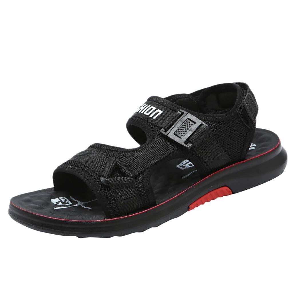Men Casual Shoes Fashion Summer Vintage Sandal Flip Flops Shoes Black