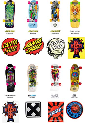 Tech Deck Retro Collector Classic Board Set, 8 Fully Assembled Boards and Big Stickers (Styles Vary)