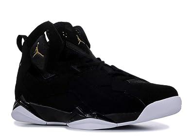 quality design 67834 df1c9 Jordan Mens True Flight Black Black White Gold Size 10