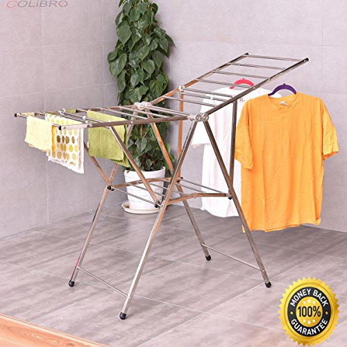 "COLIBROX-- 58"" Folding Clothes Drying Rack Laundry Dry Hange"