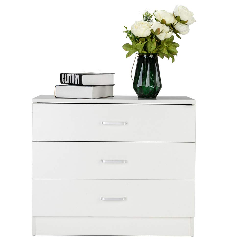 ZOFFYAL 3 Drawers Dresser Wood Chest Cabinet for Closet to Storing Clothes,Cosmetic and All Kind Accessories