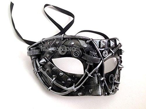 Steampunk Metallic Mens Masquerade Ball Mask Burlesque Dance Birthday Prom Halloween Party -
