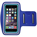uFashion3C [XS-Size] Sports Armband for Running and Workout - fits iPhone SE / 5 / 5S / 5C with OtterBox Commuter or LifeProof Fre Case, iPhone 4 / 4S with Defender/ Symmetry or LifeProof Nuud (Blue)