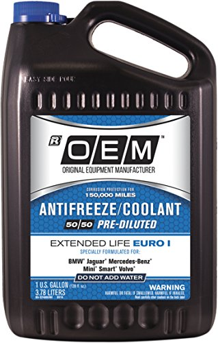 OEM 86-324BOEME Premium Antifreeze 50/50 Extended Life-Euro I Blue, 128. Fluid_Ounces