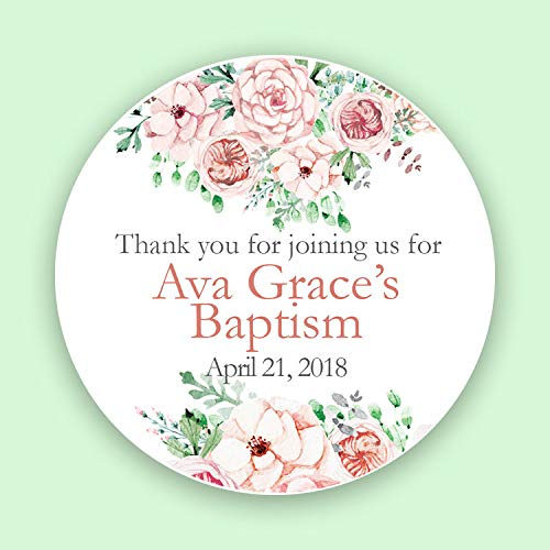CUSTOM Christening, Baptism, or First Communion Labels, Thank You For Sharing My Special Day, Christening Favor Labels