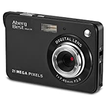 "Aberg Best 21 Mega Pixels 2.7"" LCD Rechargeable HD Digital Camera - Digital video camera - Students cameras - Handheld Sized Digital Camcorder Indoor Outdoor for Adult /Seniors / Kids (Black)"