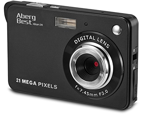 Aberg Best 21 Mega Pixels 2.7″ LCD Rechargeable HD Digital Camera – Digital video camera – Students cameras – Handheld Sized Digital Camcorder Indoor Outdoor for Adult /Seniors / Kids (black)
