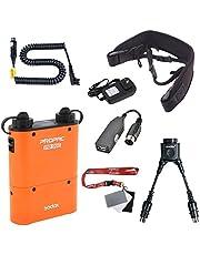 Fomito Godox PB960 Portable Extended Flash Power Battery Pack Kit Dual Output for Nikon SB910, SB900, SB800, SB28 Euro, SB28DX, SB80DX,for AD600 AD360 II AD180, for Mobile Phone Orange