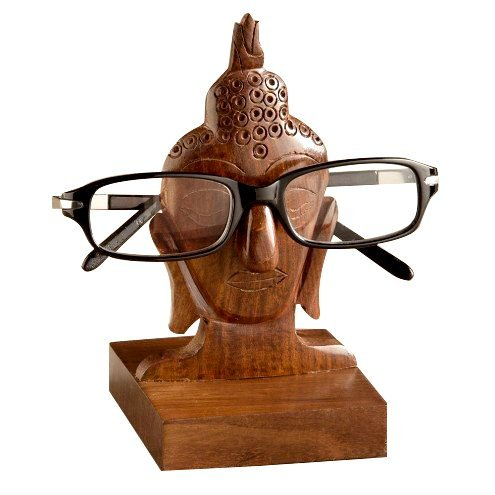Valentine Gifts Wooden Nose Shaped Eyeglass Spectacle Holder Display Stand Home Decorative - Frames India Spectacle Wooden