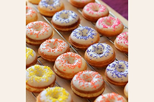 Mom's Place Gluten Free Gluten Free Mini Vanilla Donuts Mix with (Vanilla Cake Glaze)