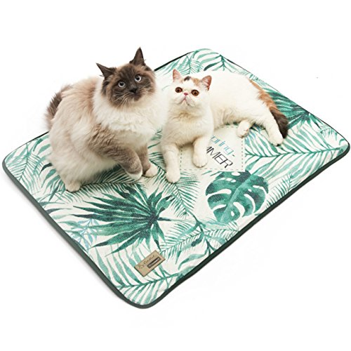 PETANDI Pet Cat Dog Cooling Bed Mat Pad,for Summer Small Medium Dogs Cats Puppy Kitten Summer,Ice Cushion Silk Chilly Cooler Sleeping by PETANDI