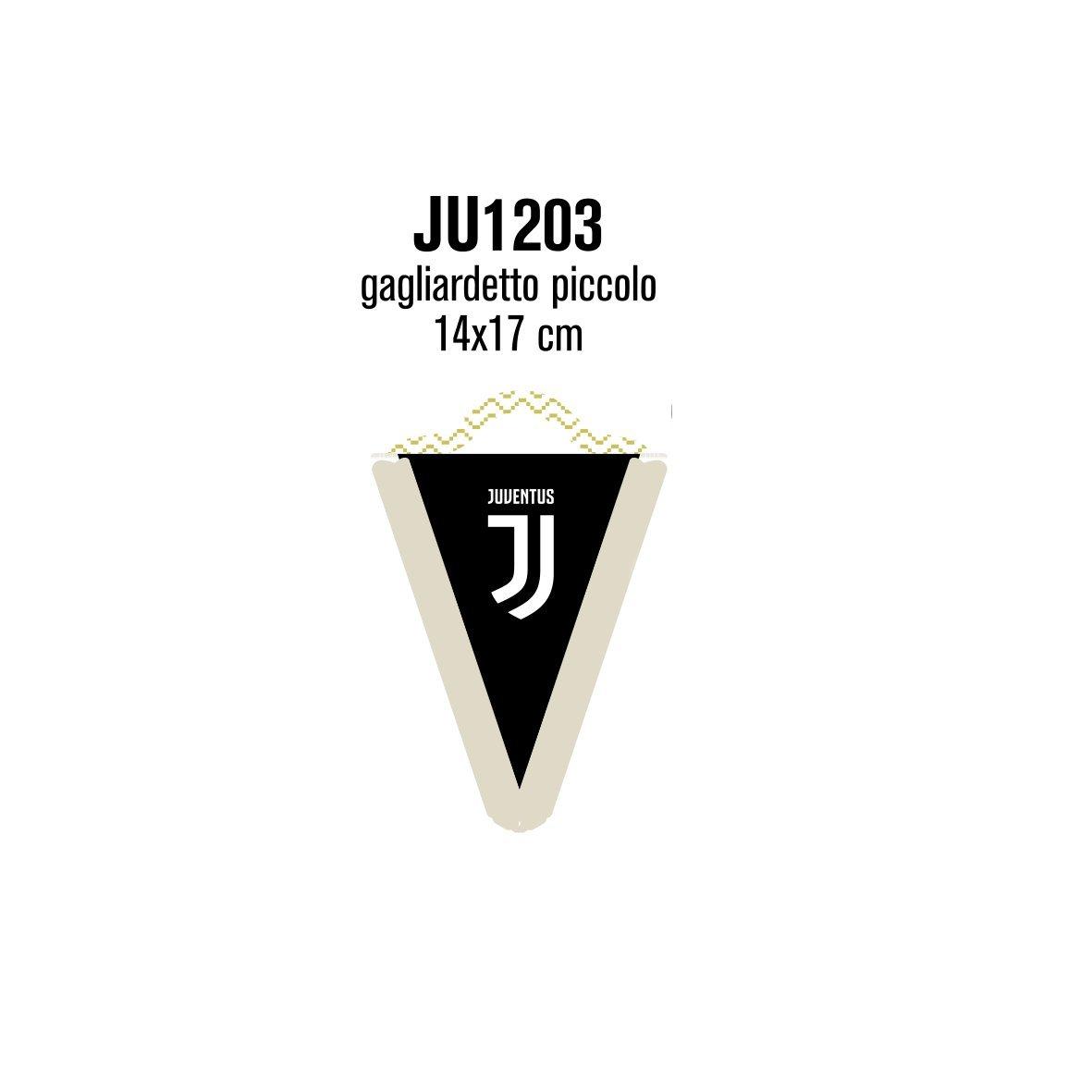 Giemme articoli promozionali - Gagliardetto Bianco Juve Juventus Cm 17X14 Ufficiale