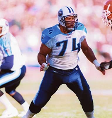 Bruce Matthews Tennessee Titans 8x10 Sports Action Photo (t)