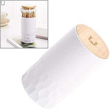 Yardwe - Dispensador automático de Palillos de Dientes, dispensador de bastoncillos de algodón para Cuarto de baño: Amazon.es: Hogar