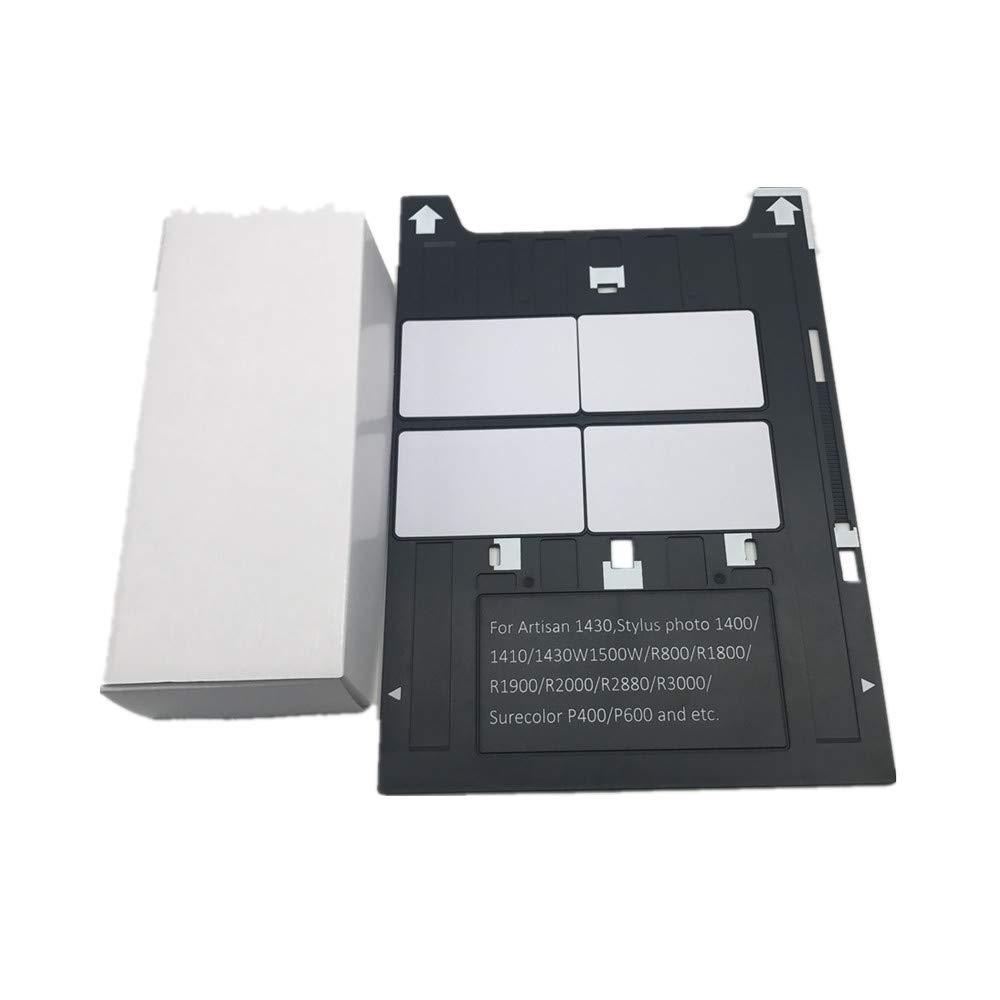 PVC ID Card Tray for Espon A3 Type Printer 1400,1500W,1430 +50X Blank Inkjet PVC Card by CSF (Image #1)