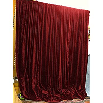 Amazon Com 3 Layer Modern Black Burgundy Red Flock Satin