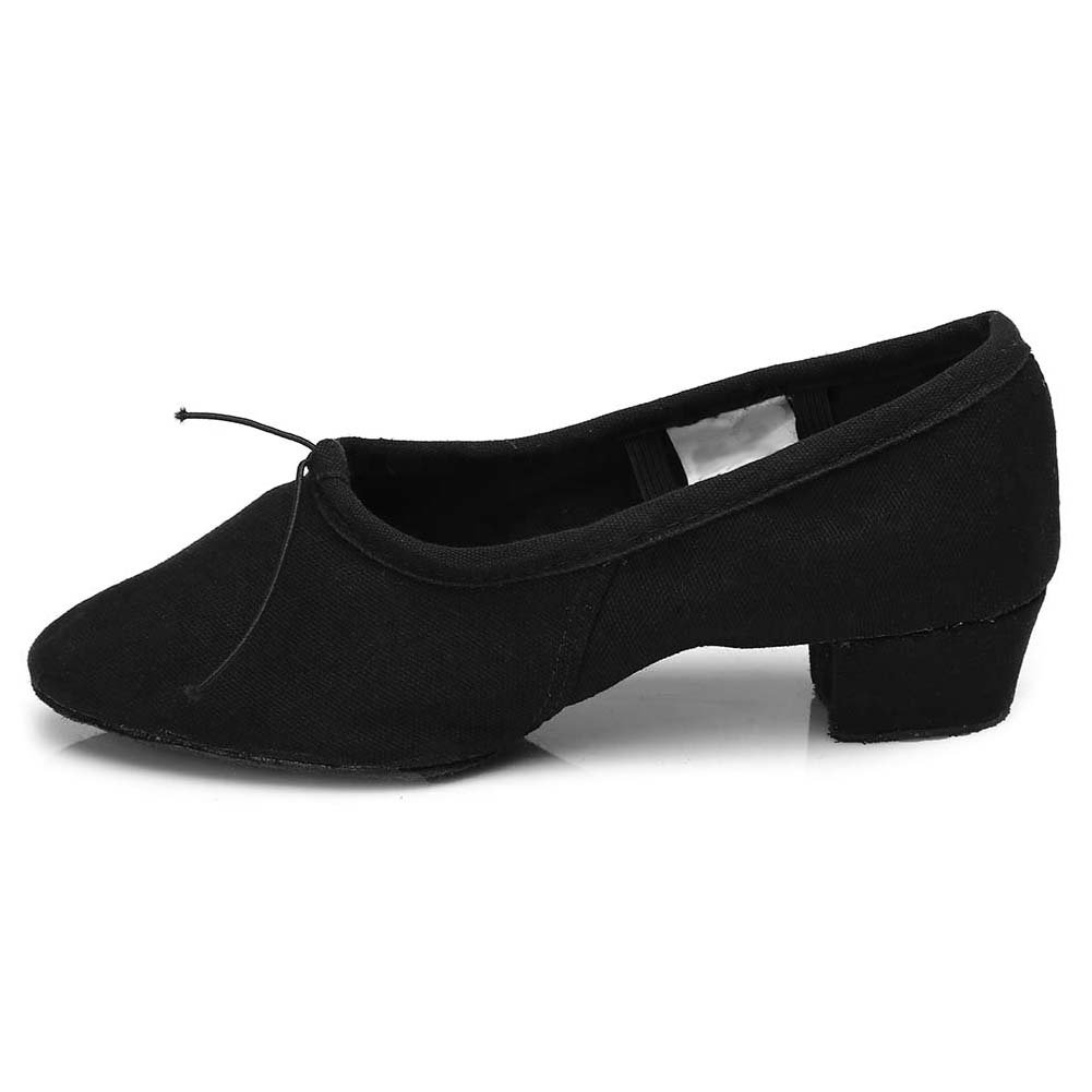 Roymall Women's Latin Dance Shoes,Black Color,Model CT,9 B(M) US