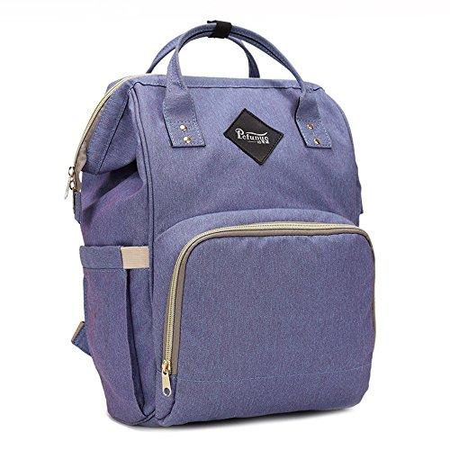 Desiger Bag Capacity Purple Nappy Backpack Bag Large Mummy Bag Nursing Baby Bag Travel nSzfTxPq