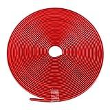 ManalaMa Pegatinas de neumáticos Cambio de Rueda de Coche Pegatinas de Rueda Decorativas Neumático anticolisión Rojo