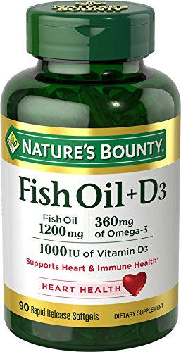 Nature's Bounty Fish Oil + D3 1200 mg Softgels 90 ea
