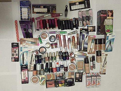 50 pièce gros maquillage assortis Lot ~ OREAL Maybelline Covergirl Sally Hansen Almay Revlon & plus marque cosmétique (50 pièces)