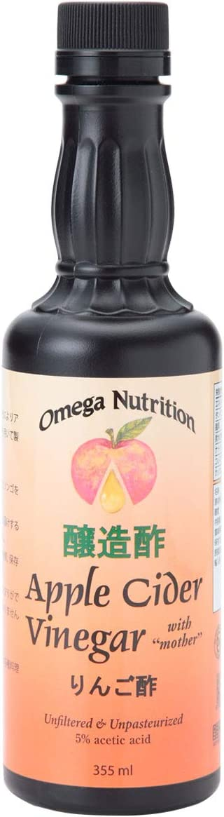 Omega Nutrition Certified Organic Apple Cider Vinegar, 12-Ounces