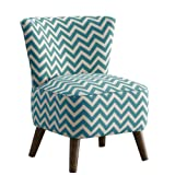 Skyline Furniture Mid Century Modern Chair in Zig Zag Turquoise