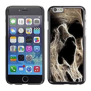 Qstar Arte & diseño plástico duro Fundas Cover Cubre Hard Case Cover para Apple iPhone 6(4.7 inches) ( Skeleton Skull Art Death Head Anatomy)