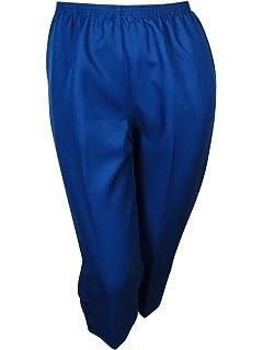 b57de47eaee Alfred Dunner Womens Plus Flat Front Pull On Capri Pants Silver 22W ...
