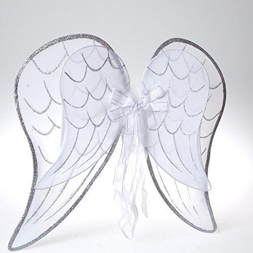 Century Novelty White Glitter Wings (Wings Glitter Mesh)