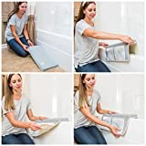 Premium Bath Kneeler and Elbow Rest, 1.5 inch Thick Knee Pad and Elbow Support with Extra Strength Suction Cups for Bathtub Comfort & Safety with Your Baby