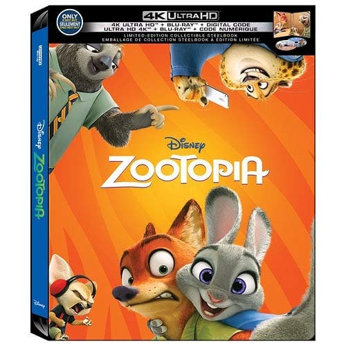 Zootopia (Limited Edition Steelbook) [4K Ultra HD + Blu-ray + Digital HD]