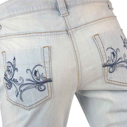 Jeans Azzurro Light Foreverde Blue Destroyed Used Sbiancato Ta7wdw8x