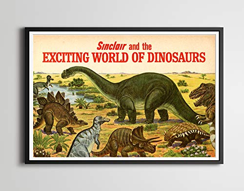 Sinclair Dinosaurs 1967 Brochure POSTER! - (up to 24x36) - Classic Cars - Automobilia - Art - Garage - Man Cave - Oil - Vintage - Antique