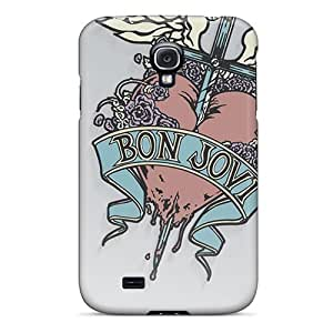 Shock Absorption Hard Phone Cover For Samsung Galaxy S4 (BaG8321uXpt) Allow Personal Design HD Bon Jovi Pictures