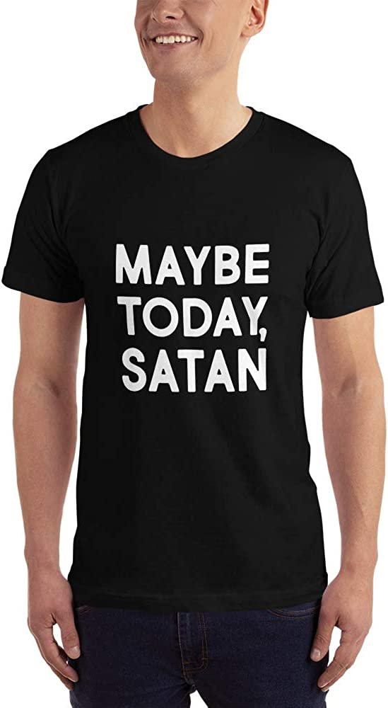 Religious Indifferent Hipster ng Millenials Funny Shirt T-Shirt Maybe Today Satan