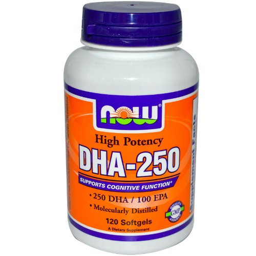 DHA 250 500mg Now Foods Softgel product image