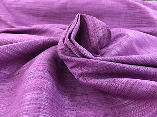 Amornphan 44 Inches Rayon Stripe Synthetic Faux Silk Dupioni Fabric for Wedding Dress Skirt Bridesmaid Drape Suits Shirt by The Yard (Purple) Drapes Stripes Silk Drapery