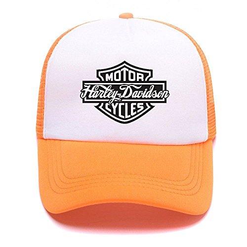 Harley D Black Baseball Caps Gorras de béisbol Trucker Hat Mesh Cap For Men Women Boy Girl 002 Orange