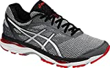 ASICS Men's Gel-Cumulus 18 Running Shoe, Carbon/Silver/Vermilion, 11 M US