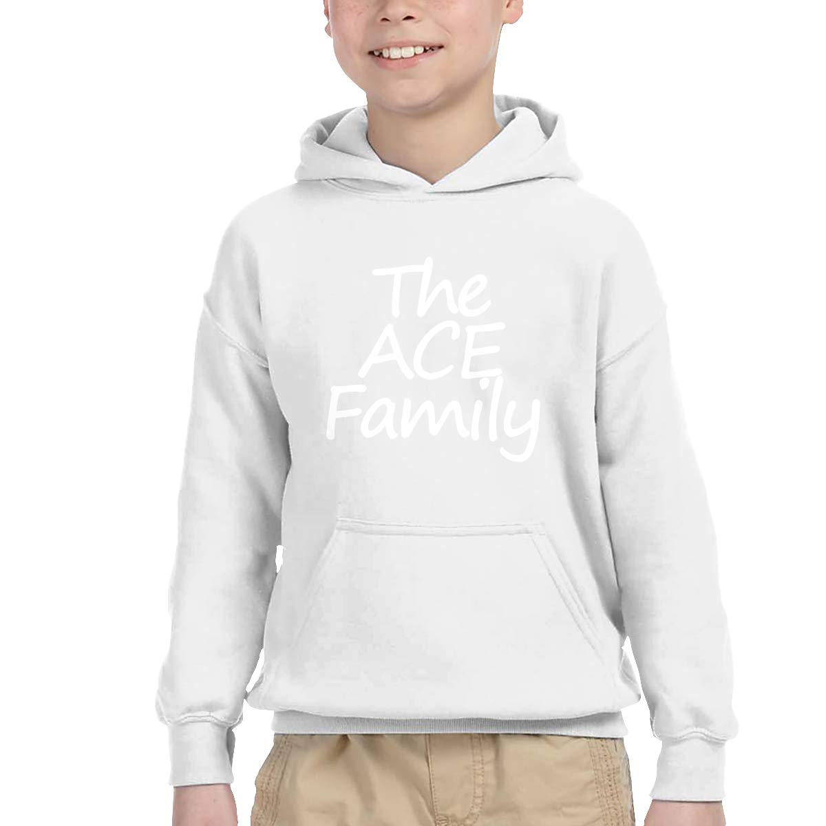 The ACE Family Youth Hip Hop Pullover Hoodie Sweater with Kangaroo Pocket Hooded Sweatshirts