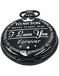 """"""" I Love You - Forever """" from a mother to My Son - Gifts from a Dad to a Son Pocket Watch"""