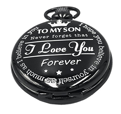 """ I Love You - Forever "" from a mother to My Son - Gifts from a Dad to a Son Pocket Watch"