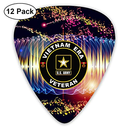 - U.S. Army Vietnam Era Veteran Sampler Guitar Picks - 12 Pack Complete Gift Set For Guitarist Best Gift For Guitarist