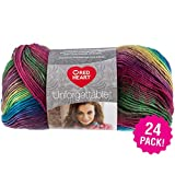 Red Heart 99463 Boutique Unforgettable Yarn 24/Pk-Stained Glass, Pack