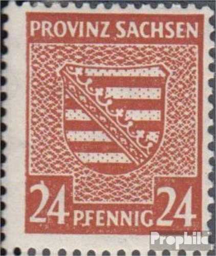 Soviet Zone (Allied.cast.) 82V, Thin Left Edging (Field 99) 1946 Provincial Coat of Arms (Stamps for ()