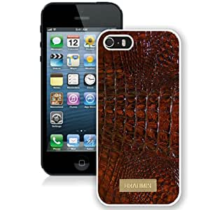Popular And Durable Custom Designed Case For iPhone 5 With Brahmin 01 White Phone Case